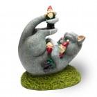 Katzen Massaker Gartenzwerg