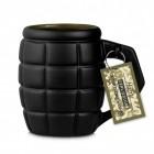 XXL Handgranate Kaffeebecher mit 790ml Fassungsvermögen in schwarz