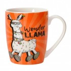 Lama Kaffeebecher in orange