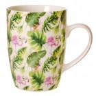 Flamingo & Blätter Kaffeebecher