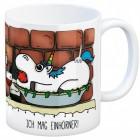 Kaffeebecher mit Einhorn Motiv und Spruch: Ich mag Einhörner!