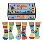 Robo Socks Roboter Oddsocks Socken in 27-30,5 im 6er Set