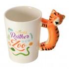 Tiger Kaffeebecher mit Tiger als Griff