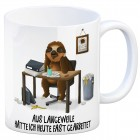 Kaffeebecher mit Faultier im Büro Motiv und Spruch: Aus Langeweile hätte ich heute ...