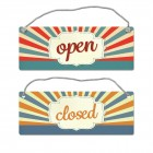 open oder closed Wendeschild mit Kordel