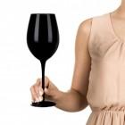 XXL Weinglas in schwarz mit Aufbewahrungstasche