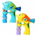 2er Set Fisch Seifenblasenpistolen mit Licht und Sound