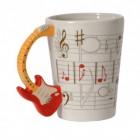 E-Gitarre 3D Kaffeebecher mit Gitarre als Griff