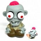 Mini Zombie Stressball mit Gehirn in pink