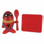 Spiderman Eierbecher mit Löffel und Toastschneider
