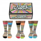 Stripe Almighty Oddsocks Socken in 39-46 im 6er Set