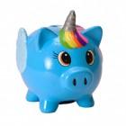 Mini Schwein Einhorn Spardose in blau