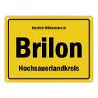 Herzlich willkommen in Brilon, Hochsauerlandkreis Metallschild