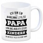 Kaffeebecher mit Spruch: Ich bin ein wahnsinnig stolzer Papa