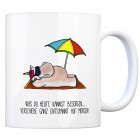 Kaffeebecher mit Spruch: Was du heute kannst besorgen... ...