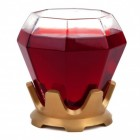 Diamantring Weinglas mit Silikonuntersetzer
