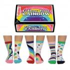 Folge dem Regenbogen Oddsocks Socken in 37-42 im 6er Set