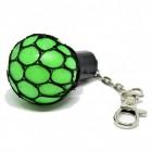 Netz Stressball Schlüsselanhänger in grün