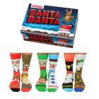 Santa Banter Weihnachten Oddsocks Socken in 39-46 im 6er Set