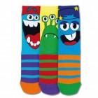 Lustige Monster Socken in 30,5-39 im 3er Set