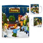 Freising, Oberbayern Weihnachtsmarkt Kaffeebecher