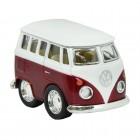 Volkswagen VW T1 Bus Comic Style Modellauto in rot mit Rückziehmotor