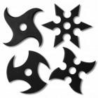 Glasuntersetzer Ninja Wurfstern - 4er Set