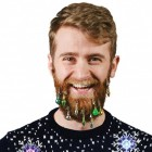 Weihnachtskugeln Scherzartikel für den Bart im 9er Set