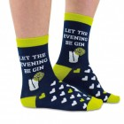 Let the evening be GIN Socken in 37-42 im Paar