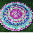 Neon Mandala Badetuch