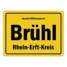 Herzlich willkommen in Brühl, Rheinland, Rhein-Erft-Kreis Metallschild