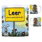 Leer (Ostfriesland) - Einfach die geilste Stadt der Welt Kaffeebecher