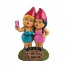 Selfie Sisters Gartenzwerg