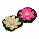 Seerose LED Dekolampen für die Badewanne in rosa und weiß im 2er Set