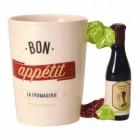 Bon Appetit - Weinflasche Kaffeebecher