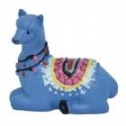 Lama Dekofigur in blau liegend