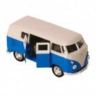Volkswagen VW T1 Bus Modellauto mit Rückziehmotor in blau