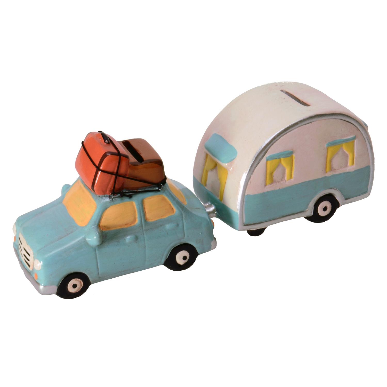 2er set auto mit wohnwagen spardosen  jetzt günstig bestellen