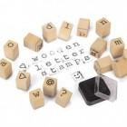 Buchstaben Holzstempel mit Stempelkissen im 31er Set
