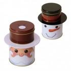 Weihnachtsmann oder Schneemann Vorratsdose