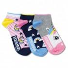 Einhorn Füßlinge Socken in 37-42 im 3er Set