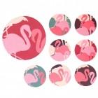 Flamingo Untersetzer in rund im 8er Set