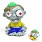 Mini Zombie Stressball mit Gehirn in grün