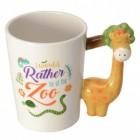Giraffe 3D Kaffeebecher mit Giraffe als Griff
