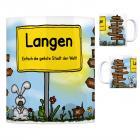Langen (Hessen) - Einfach die geilste Stadt der Welt Kaffeebecher