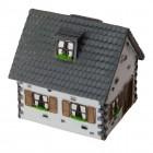 Haus Spardose in grau