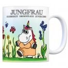 Honeycorns Kaffeebecher mit Sternzeichen Jungfrau Motiv