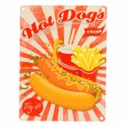 Das Fast Food Hot Dogs Metallschild in 15x20 cm