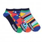 Streifen und Muster Füßlinge Oddsocks Socken in 39-46 im 3er Set