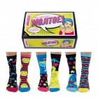 Mojitoes Cocktail Oddsocks Socken in 37-42 im 6er Set